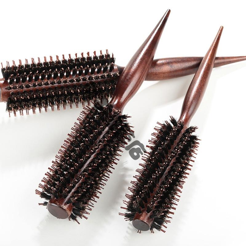 卷发梳子内扣家用尖尾梳子吹直发梨花猪鬃毛梳理发店美发卷梳滚梳