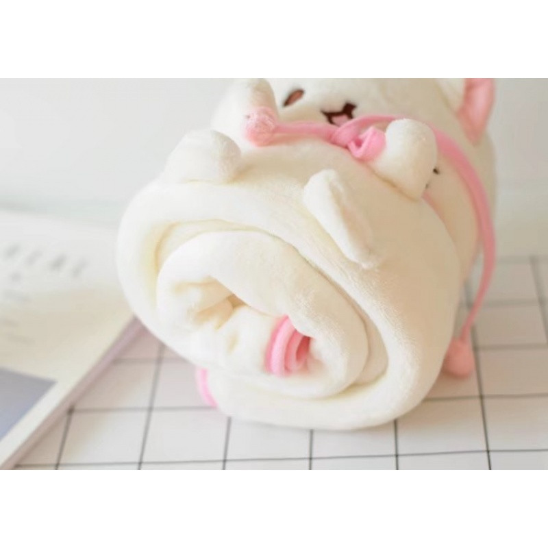萌萌哒 可爱小猫咪卷毯 毛毯 小毯子 喵喵空调毯