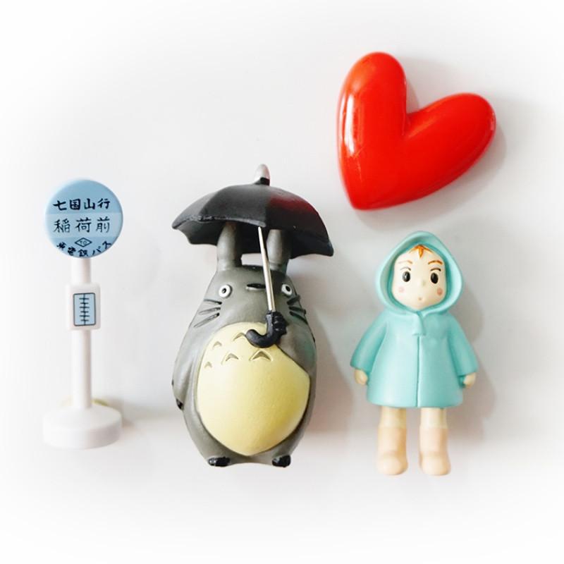 可爱龙猫小梅卡通创意立体磁扣冰箱贴吸磁贴家居装饰品