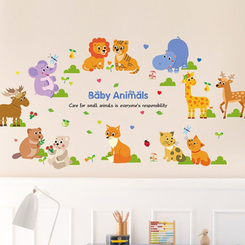幼儿园墙面装饰墙纸贴画宝宝卧室儿童房间墙壁创意墙贴纸