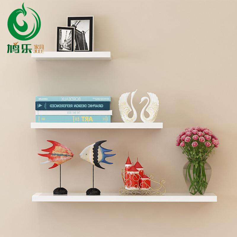 客厅墙上置物架墙面墙壁装饰架一字隔板搁板卧室壁挂架创意书架