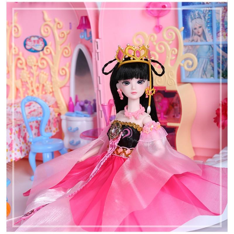 娃娃的房子大别墅正品夜萝莉套装罗丽仙子芭比公主女孩玩具