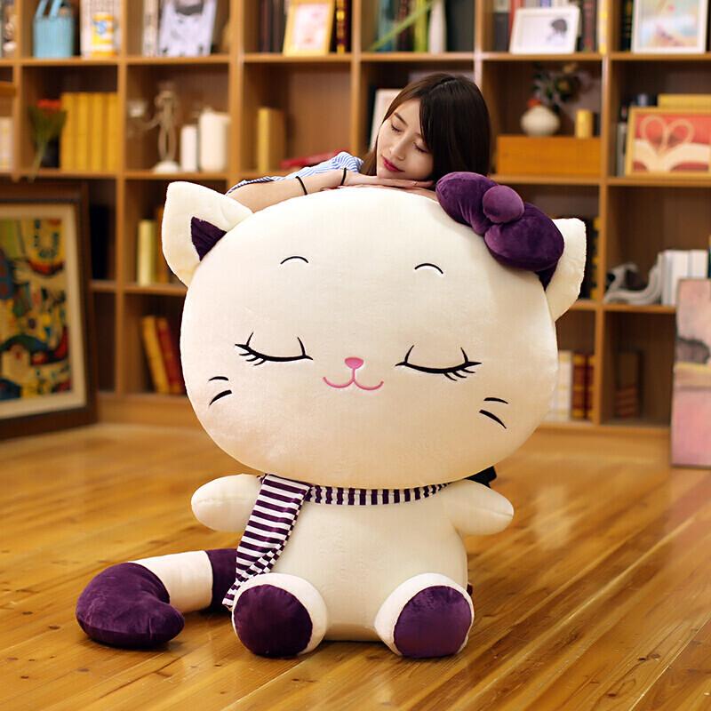 毛绒玩具猫咪公仔可爱大脸猫布娃娃抱枕小猫玩偶生日礼物女生送女友