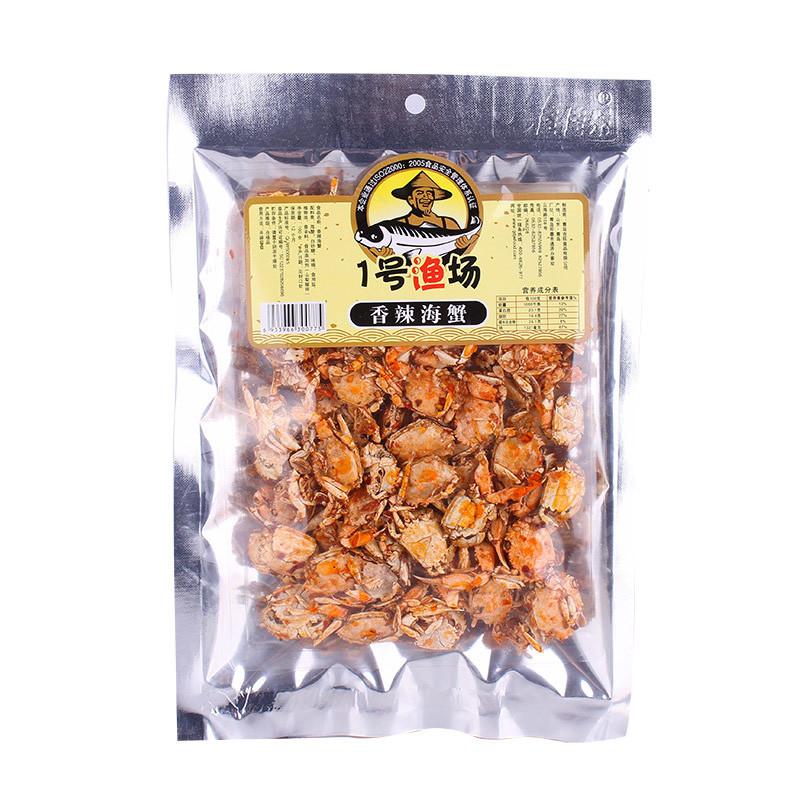 香辣蟹海蟹香酥零食小螃蟹青岛特产即食袋装海鲜小吃200g