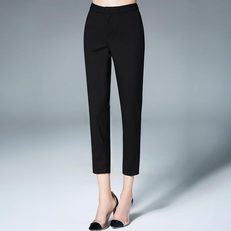 九分直筒裤女高腰