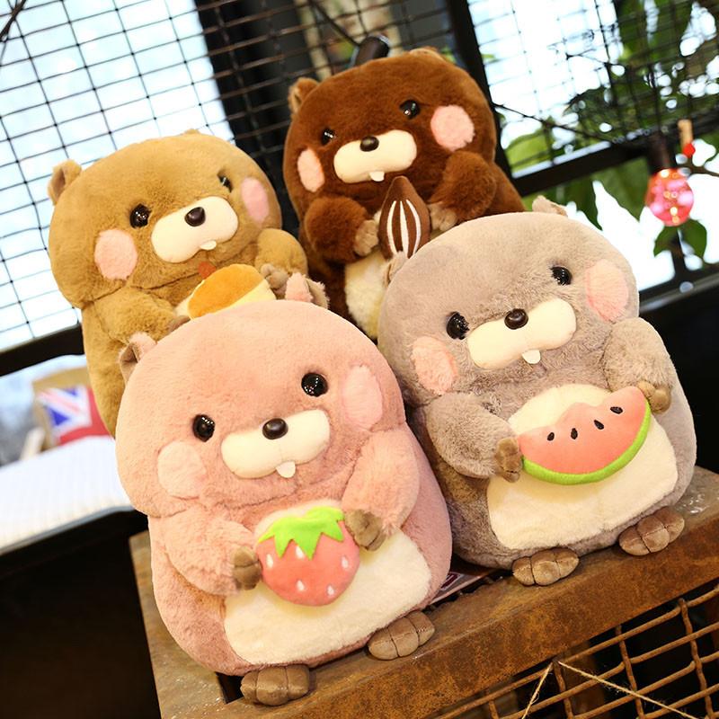 毛绒玩具超萌松鼠仓鼠公仔可爱土拨鼠玩偶布娃娃儿童生日礼物女生