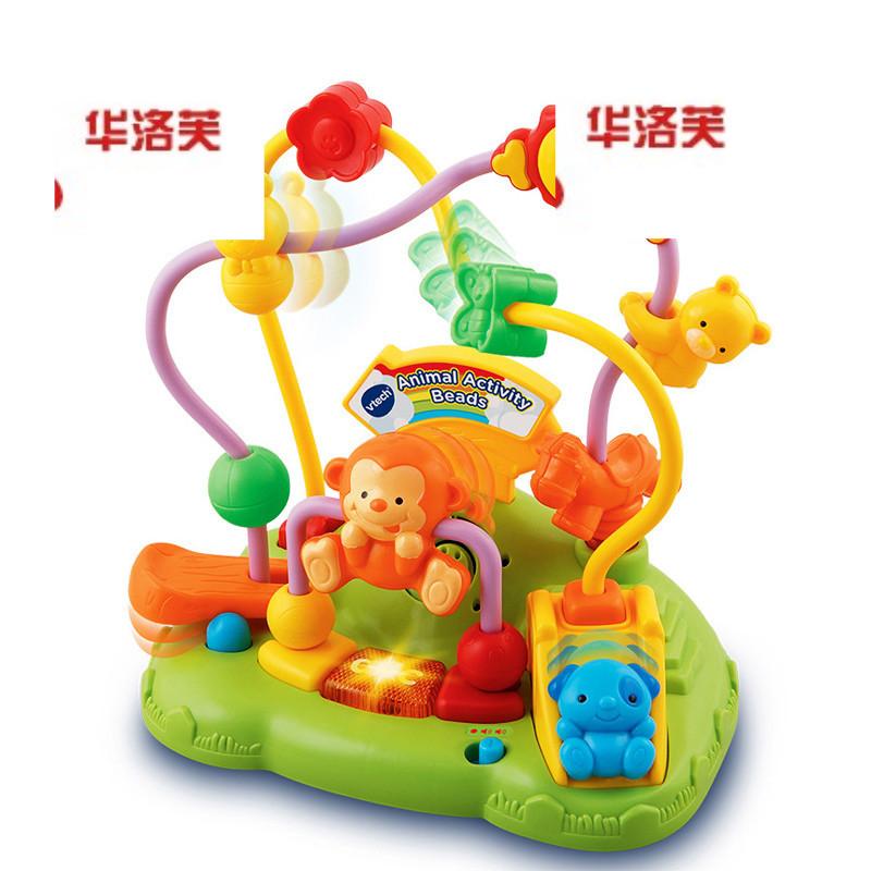 vtech伟易达动物滑珠宝宝儿童智力玩具串珠绕珠玩具1岁