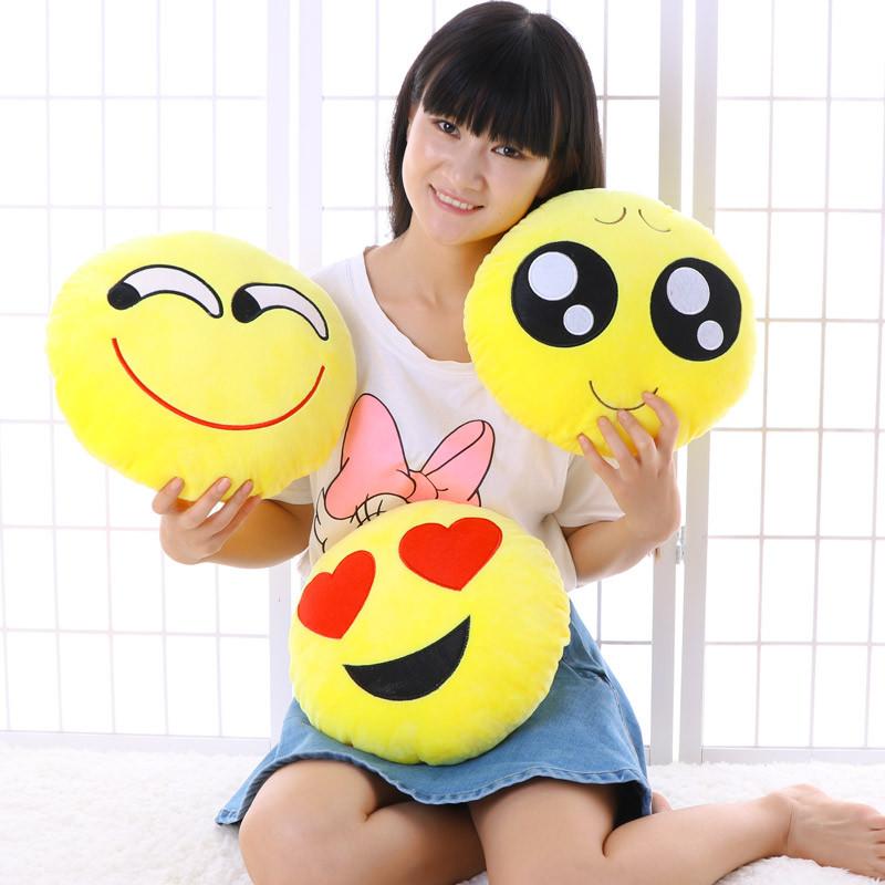 qq搞怪抱枕表情包微信emoji公仔毛绒玩具男生款睡觉个性韩国床上