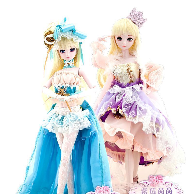 叶罗丽娃娃冰公主50厘米白光莹紫莓茵茵蓝星宝石爱丽丝白雪公主图片