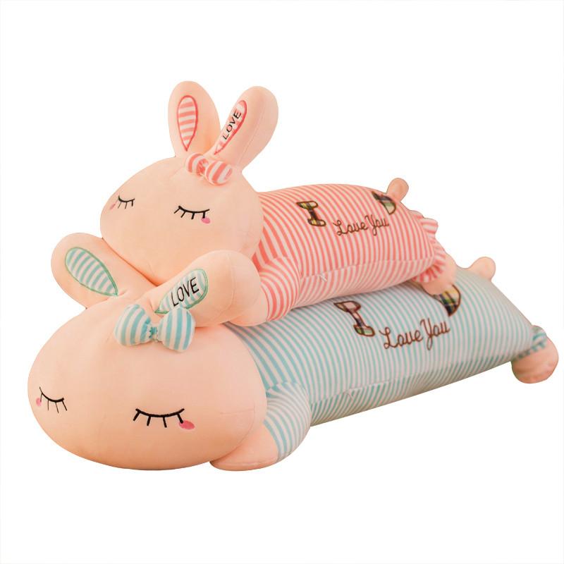 可爱兔子毛绒玩具萌公主长抱枕睡觉女孩长条枕公仔礼物送女生