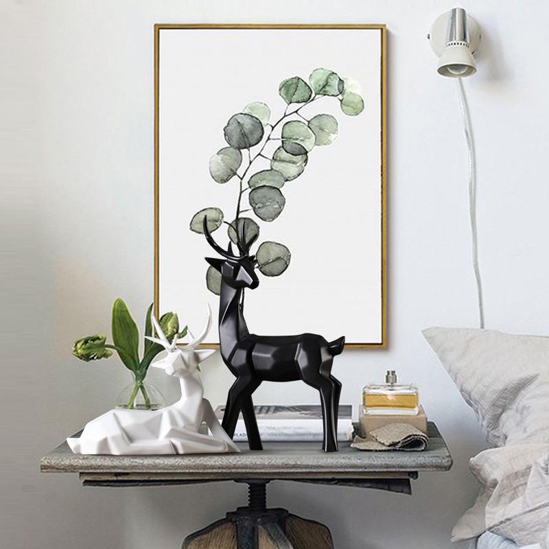 北欧家居陶瓷摆件 客厅电视柜酒柜装饰品摆件创意几何图片