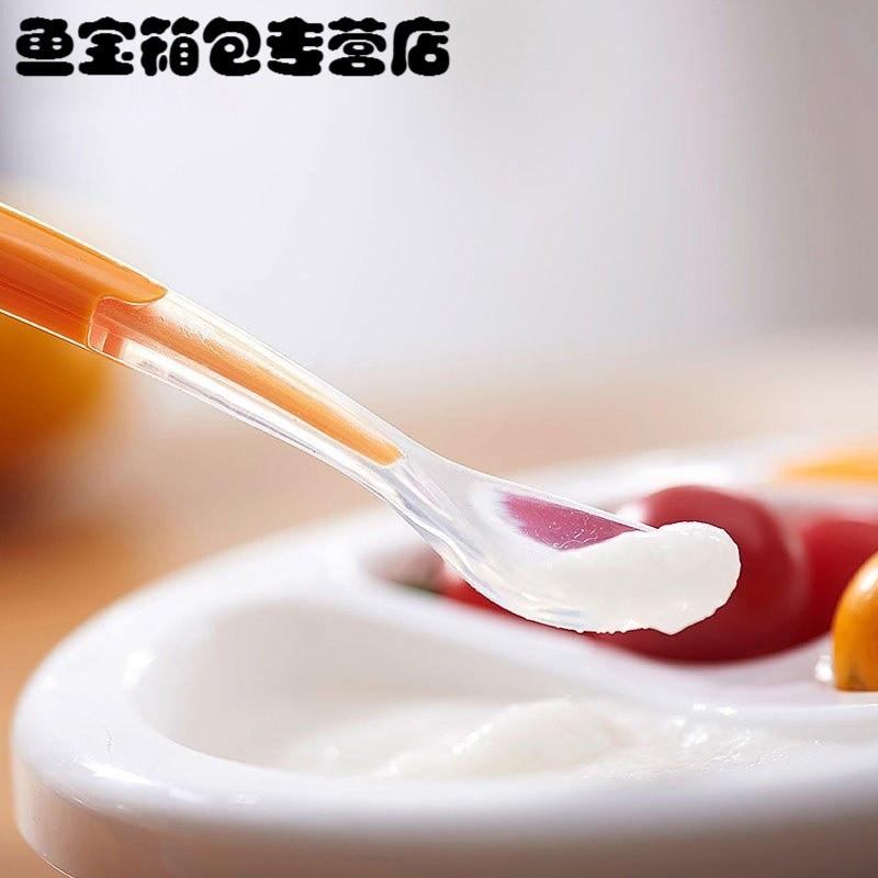 儿童勺子 宝宝硅胶软勺 碗勺餐具新生儿软头勺婴儿勺子辅食小勺子当季