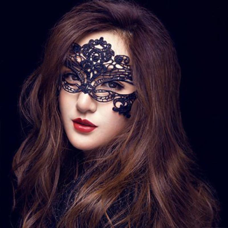 性感情趣成人面具舞会公主女派对蕾丝眼罩酒吧化妆搭配情趣内衣图片