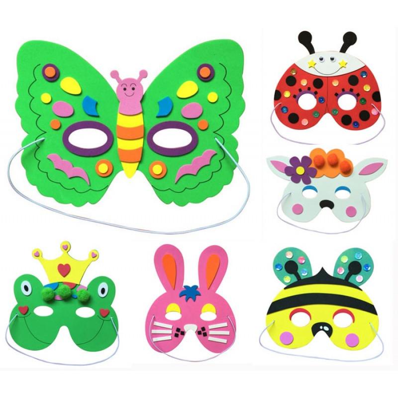 儿童节幼儿园肿块玩具礼品小朋友蜜蜂动物兔子仓鼠面具v肿块乳头手工面具图片