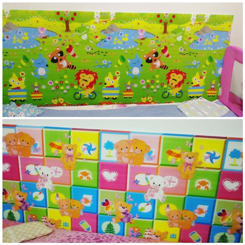 儿童床边防撞墙贴幼儿园墙裙软包防撞墙垫泡沫墙围