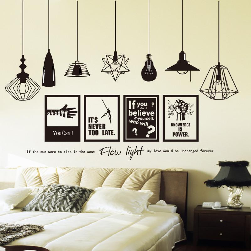 大学生宿舍贴画卧室墙贴纸男房间床头装饰品创意海报文艺墙纸自粘