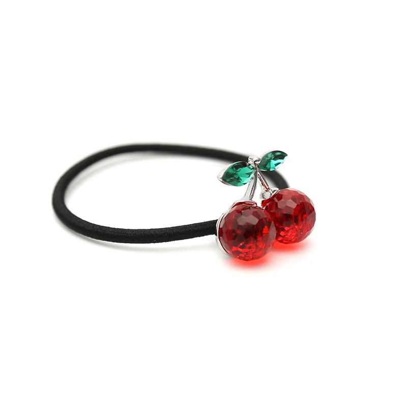 小清新头饰可爱水晶樱桃橡皮筋发圈发绳头绳成人扎头发饰皮套