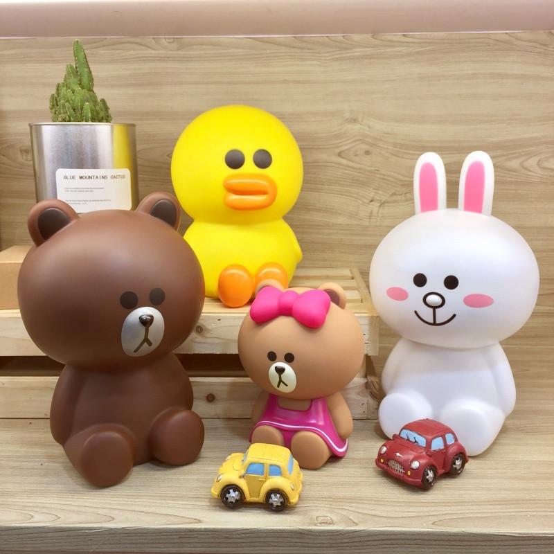 布朗熊可妮兔莎莉丘可存钱罐可爱卡通礼物储蓄罐大号创意