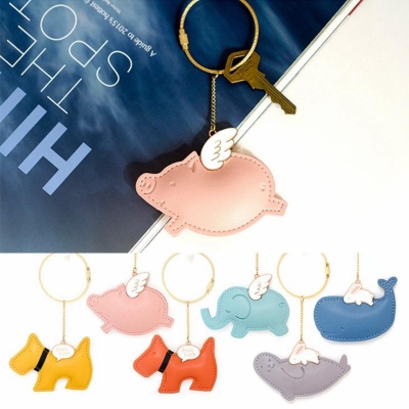 pu钥匙扣韩国卡通可爱汽车钥匙圈链狗狗挂件创意女生礼物