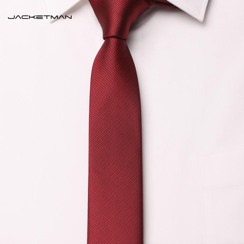 112新款韩版窄款男士时尚结婚领带 酒红色5厘米礼盒礼