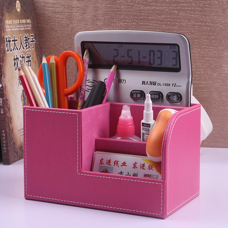 多功能笔筒创意时尚 办公桌面文具收纳盒小清新可爱 欧式简约