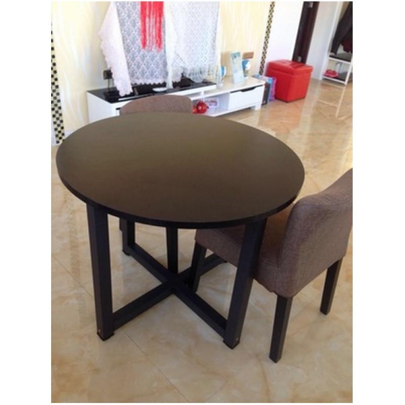 洽谈桌椅组合圆形饭桌餐桌接待小圆桌茶几简约现代咖啡桌宜家