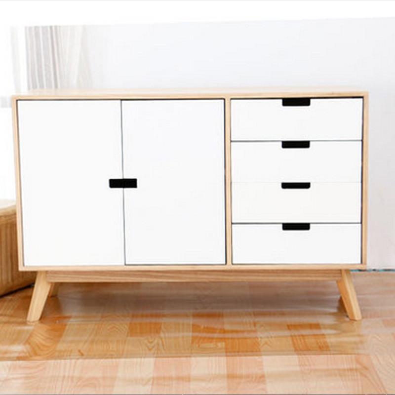 实木斗柜大容量储物柜现代简约双门斗柜客厅卧室收纳柜五斗柜斗橱