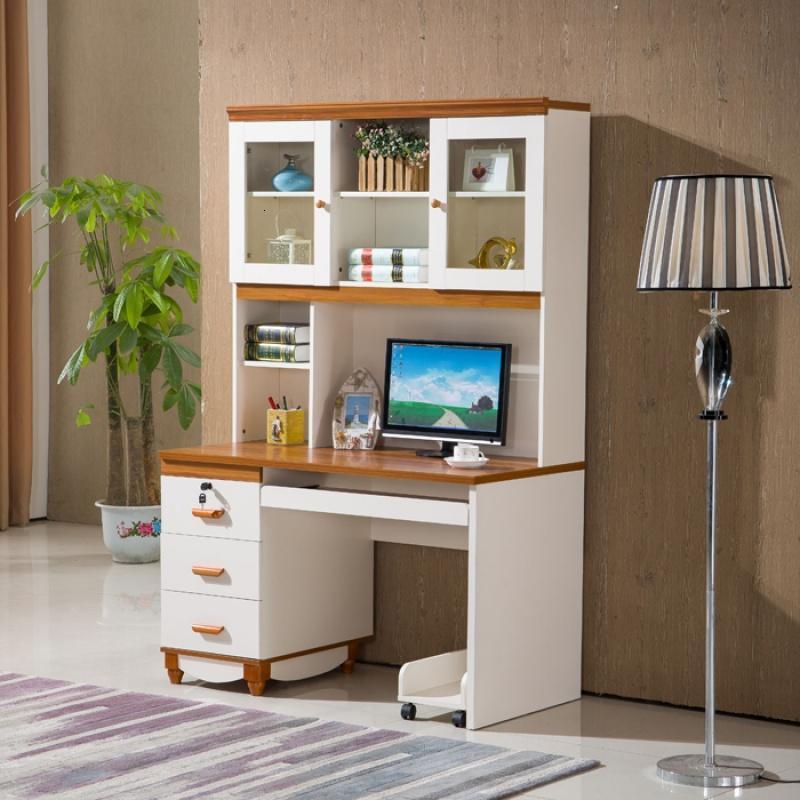 n地中海转角书桌书架书柜组合一体电脑桌台式家用学生图片