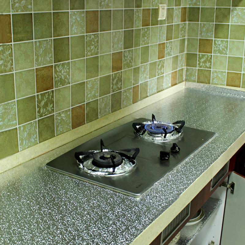 加厚鋁箔紙廚房防油貼紙錫箔紙櫥柜衣柜抽屜墊灶臺面防水自粘墻貼