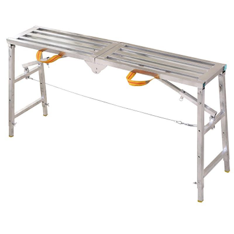 装修折叠凳 便携升降施工铝合金加厚凳子 工程梯子移动平台凳