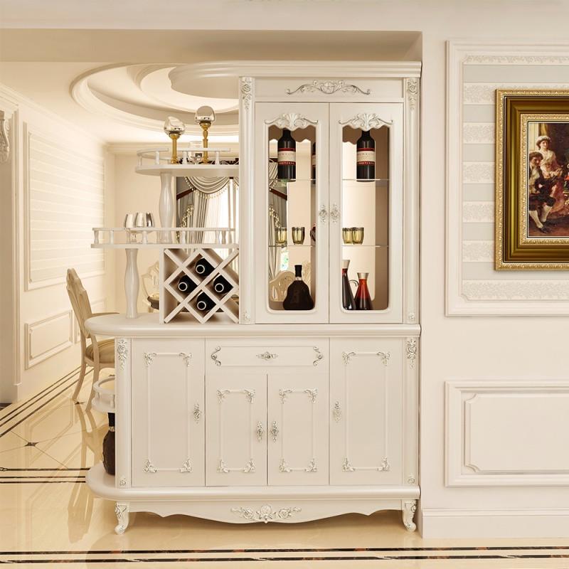 欧式田园玄关柜酒柜客厅双面隔断屏风装饰门厅间厅柜进门镂空鞋柜