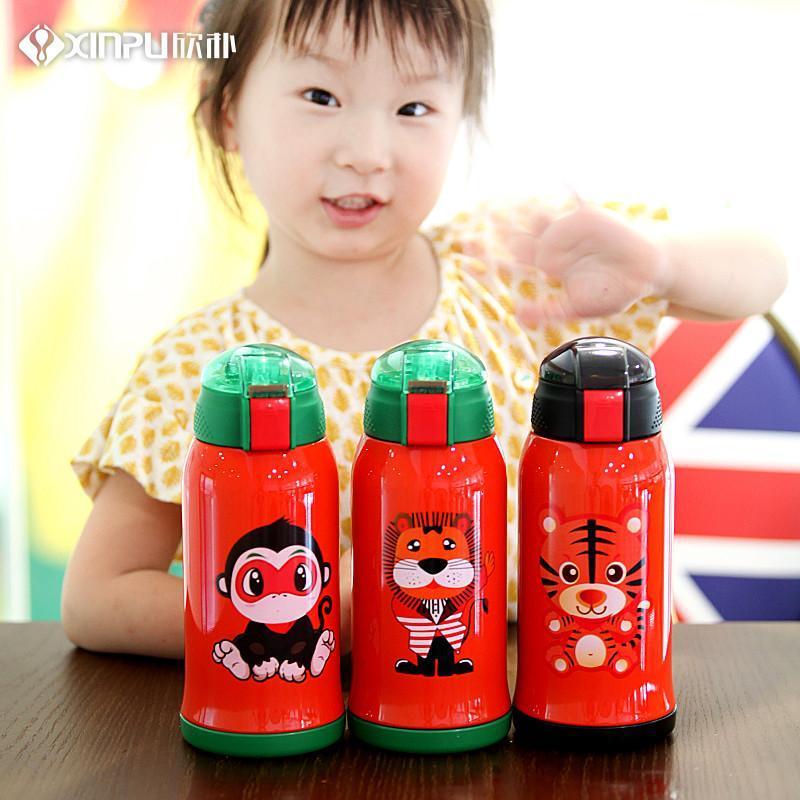 儿童保温杯带吸管两用宝宝防摔水壶幼儿园学生男女水杯
