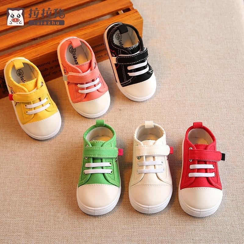 儿童帆布鞋女童布鞋男童白鞋幼儿园小孩子的鞋子宝宝室内鞋1-3岁