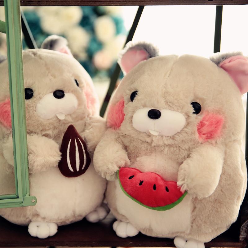 可爱土拨鼠公仔毛绒玩具布娃娃抱枕生日礼物女生萌宠小老鼠玩偶