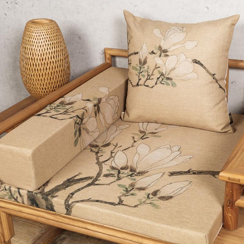 新中式红木实木沙发垫坐垫靠垫飘窗垫海绵扶手枕定做圈椅罗汉床垫图片