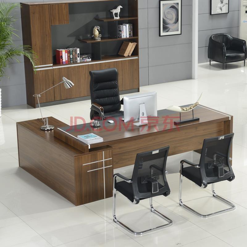 办公家具时尚板式老板桌总裁大班台现代简约经理主管办公桌图片