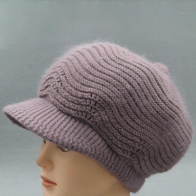 秋冬老人帽女士八角帽加绒加厚针织帽中老年帽子奶奶毛线帽女冬天