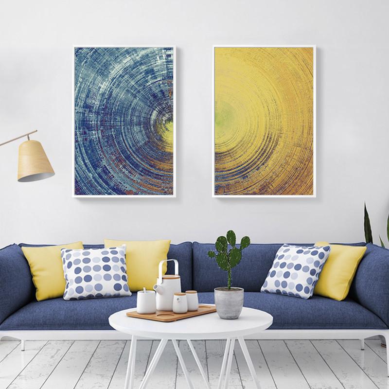 客厅抽象装饰画现代简约沙发背景墙画玄关挂画创意个性壁画