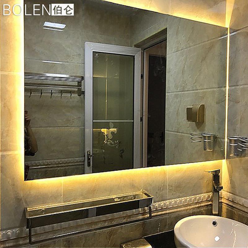 无框浴室装饰镜led灯镜卫生间镜子背光镜防雾灯带视频镜子刘思言图片