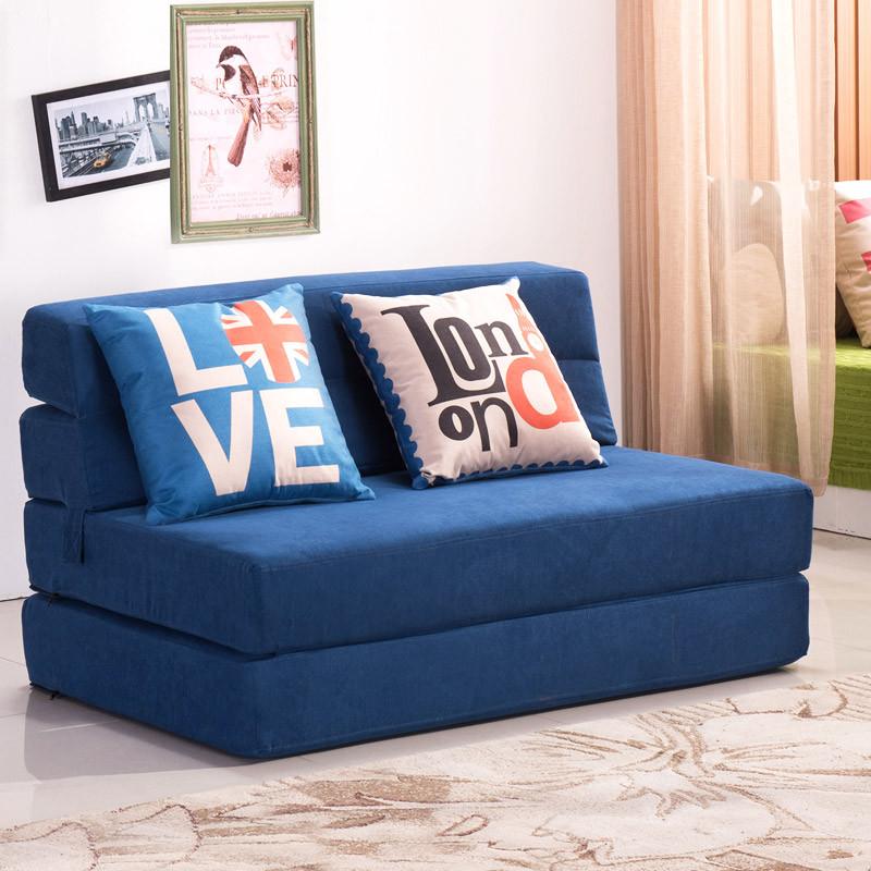 多功能懒人沙发床可折叠客厅双人1.2三人1.5米现代布艺床沙发两用