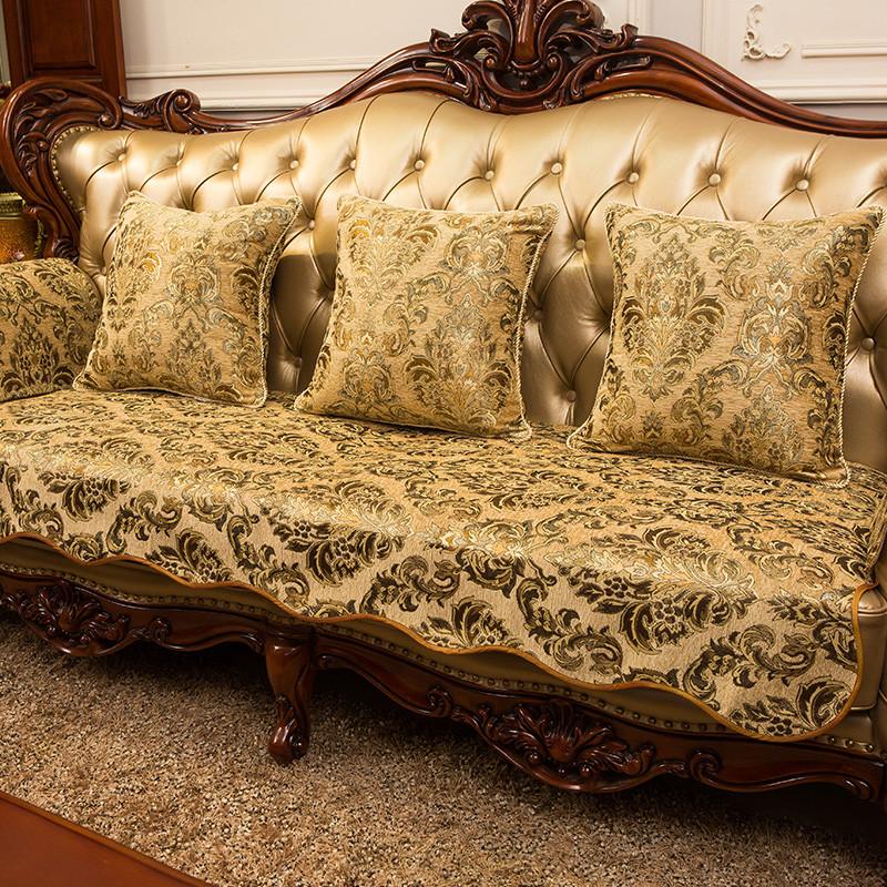 欧式沙发垫坐垫秋冬布艺 沙发巾 高档防滑 定做贵妃靠垫扶手图片