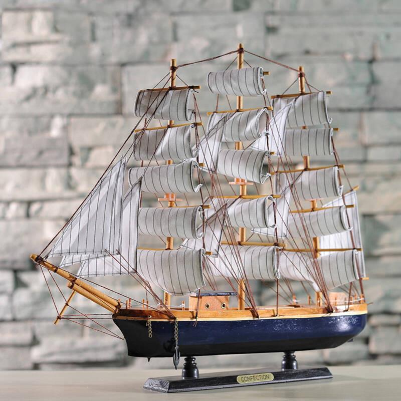 地中海木帆船 手工制作工艺船模型工艺品家居摆件