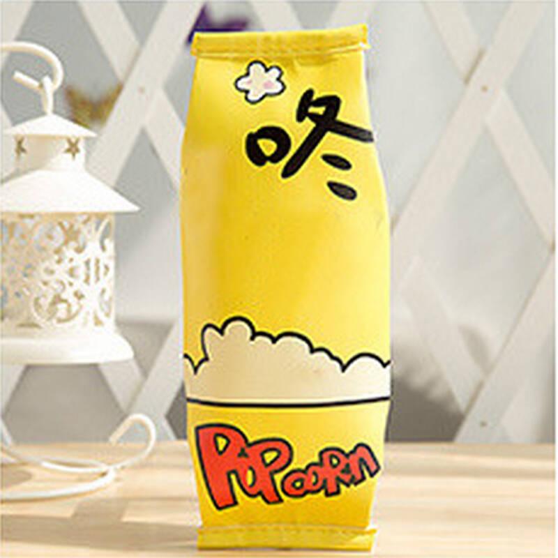 韩版创意零食笔袋 韩国简约女初中学生小清新可爱文具