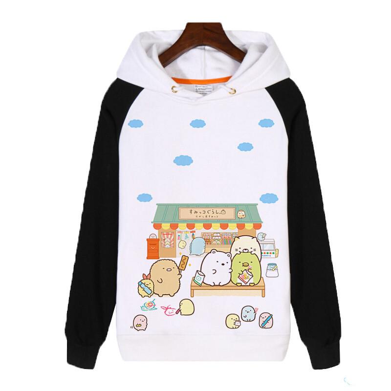角落生物可爱猫咪后院白熊企鹅炸猪排二次元动漫周边卫衣外套服装