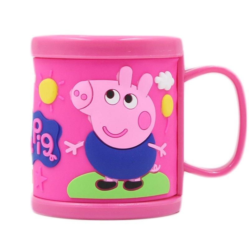 儿童漱口杯小猪佩奇宝宝牙杯卡通小猪刷牙杯子幼儿洗漱杯