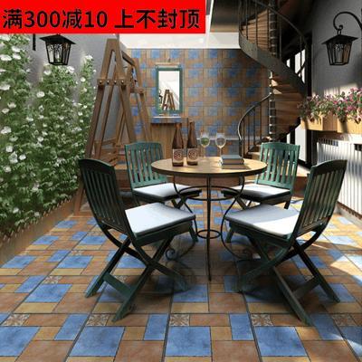 庭院仿古砖拼花砖500x500 花园阳台地砖户外露台瓷砖防滑防冻地砖壹德壹