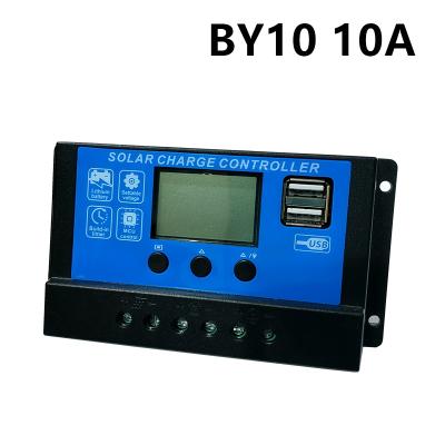 閃電客太陽能控制器10a30a12V24V支持鋰電池USB太陽能電池板路燈控制器 BY10 10A 12V24V