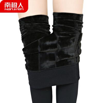 南极人女外穿秋冬加绒加厚打底裤大码高腰肉色连裤袜保暖一体裤
