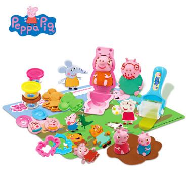 小猪佩奇玩具 超轻粘土彩泥橡皮泥套装 儿童无毒diy手工食玩黏土 配