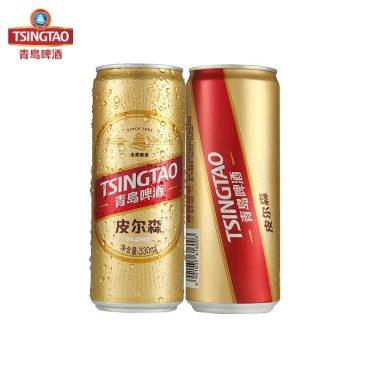 青岛啤酒皮尔森10.5度 330ml*12罐 整箱装 官方直营